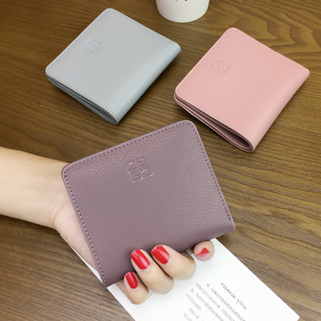 free shipping new fashion brand women's credit card holder ladies short wallet 100% genuine cowhide leather in-kind shooting