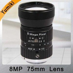 Yumiki HD 8MP объектив камеры видеонаблюдения 75 мм ручной диафрагмы ручной фокус F2.8 диафрагма 1