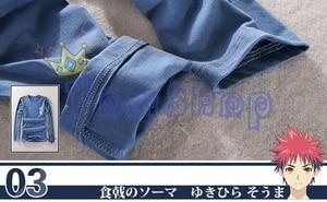 Image 5 - アニメshokugeki no相馬yukihira soumaコスプレ衣装制服スーツシャツトップス+エプロン送料無料