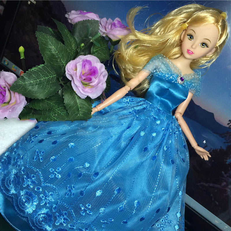 Cinderella Fairytale Fashion Pack Doll Accessories: Princess Wedding Dress For Barbie Doll Cosplay Fairy Tale