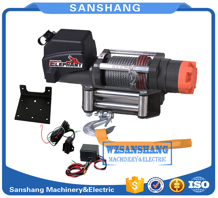 hot sale 6000LB electric winch kits powerful for ATV UTV off-road vehicle, DC12V, Mechanical brake, remote control switch