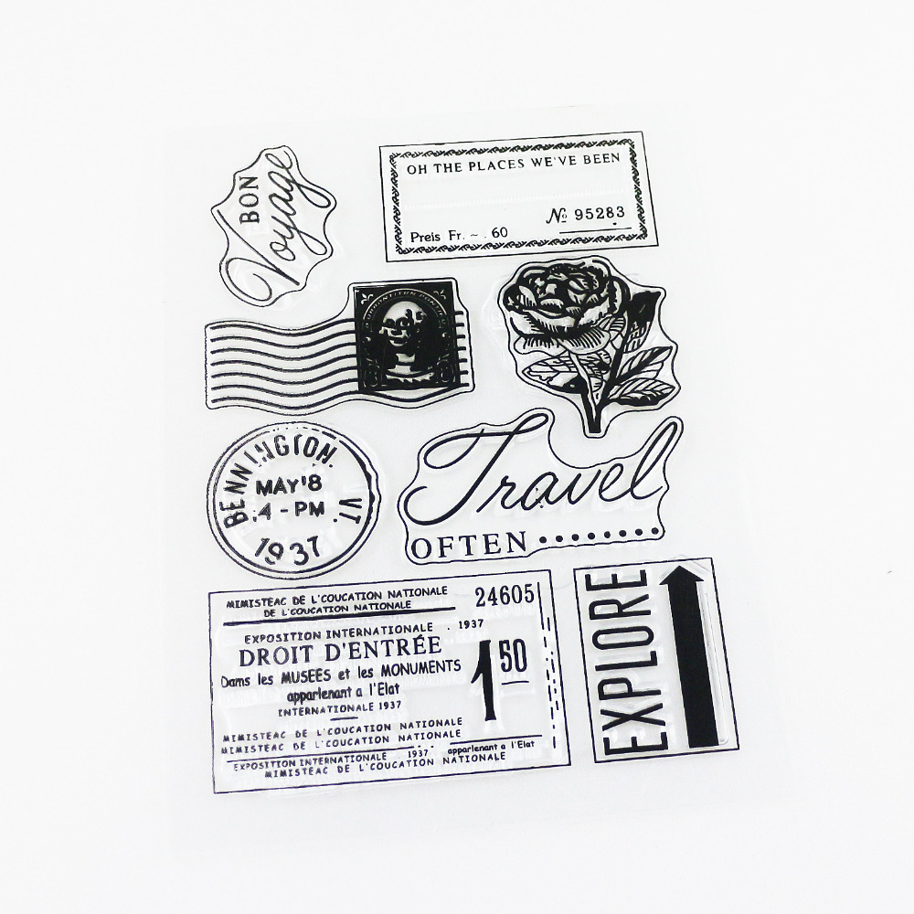 Rubber stamps for crafting - Vintage Travel Memory Clear Stamp Silicone Stamp Diy Rubber Stamps For Scrapbooking Craft China