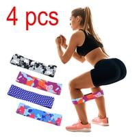 4 Pcs Power Hips Fitness Resistance Bands Yoga Workout Leg Exercise Elastic Bands Women Squats Fitness Circle Comfortable Belt