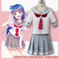 Quality Japanese Anime Love Live Sunshine Cosplay Costumes Takami Chika Girls Takami School Love Live Aqours