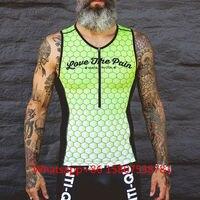 LOVE THE PAIN team летние безрукавные Гоночные Костюмы мужские Tri костюм Майо ciclismo боди триатлонный Костюм ciclismo плавание бег