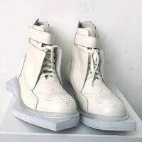 2019 новые мужские белые кожаные мужские ботинки с геометрической подошвой rick Chunky mens RO cool shoes