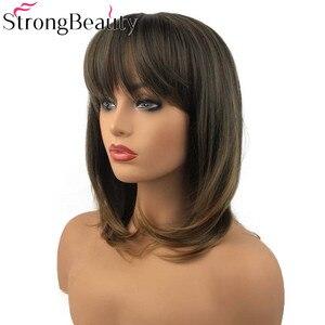 Image 2 - 強力な美容合成天然ストレート長かつらビッグバンキャップレス女性の髪