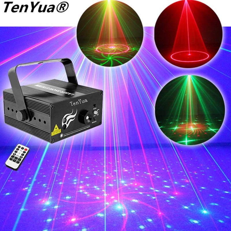 TenYua RGB 24 modèles Laser lumière LED scène DJ fête à la maison spectacle complet Club Bar coloré professionnel noël projecteur de musique