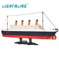 LIGHTALING 1021ชิ้นอาคารบล็อกของเล่นล่องเรือไททานิก