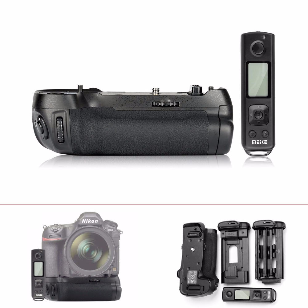 Meike MK-D850 Pro Battery Grip with 2.4G Wireless Remote Control for Nikon D850 Camera,Battery Grip Holder for Nikon D850 meike mk 760d pro built in 2 4g wireless control battery grip suit for canon 750d 760d as bg e18