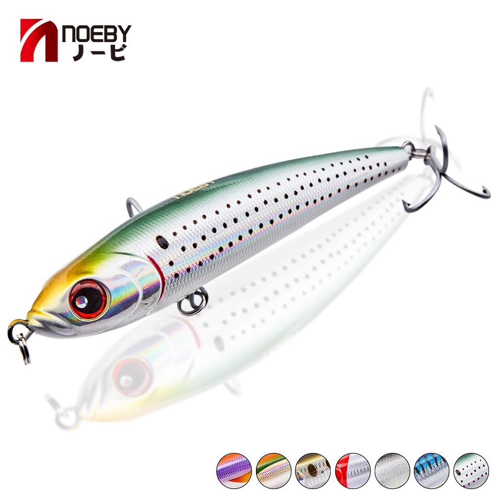 Noeby Pencil Lure Wobbler Stickbaits Leurr Sea Fishing Lure 3 Sizes 8 Colors Available VMC Hook For Bass Perch Pike Fishing