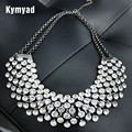 Kymyad Collier Femme Trendy Crystal Statement Necklaces Pendants Women Jewelry Multilayer Link Chain Necklace Bijoux Colares