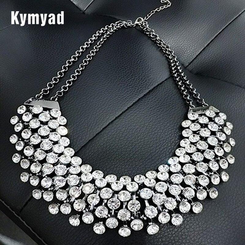 Kymyad Collier Femme Trendy Crystal Statement Neckl