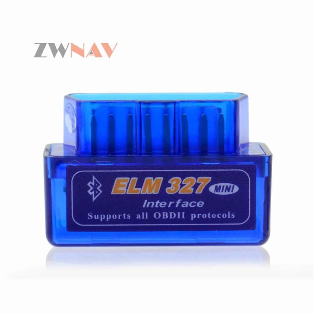 ZWNAV sıcak satış süper Mini Elm327 Bluetooth OBD2 Elm 327 Android adaptörü araba tarayıcı OBD 2 Elm-327 V2.1 OBDII otomatik teşhis