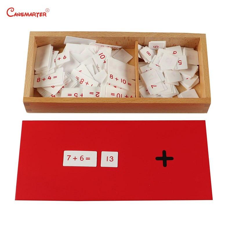 Montessori Maths jouet aides pédagogiques Mental arithmétique boîte Version professionnelle mathématiques Standard en bois jouet enfants MA050-3
