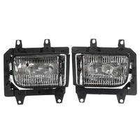 1 Pair White Auto Front Fog Lights Shell Accessories Fit For BMW 3 Series E30 1983