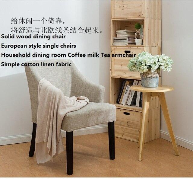Massivholz esszimmerstuhl Europäischen stil einzigen stühle Haushalt ...
