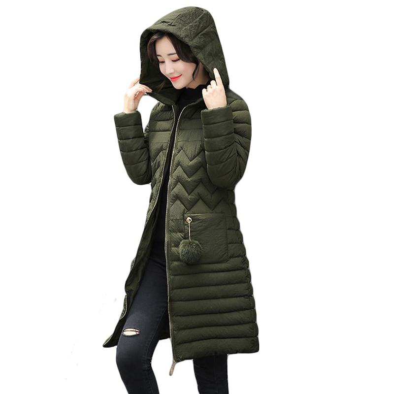3XL Plus Size Ladies Fashion Winter Coats 2017 Casual Parkas Mujer Outwear Female Hooded Cotton-padded Medium Jackets CM1573 plus size 3xl ladies new fashion winter coats 2017 casual parkas mujer outwear female hooded cotton padded medium jackets cm1754