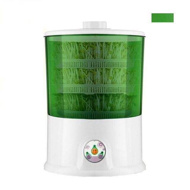 HIMOSKWA 220 V Casa DIY Fabricante de Brotos de Feijão 2 Camada/3 Camada de Crescimento De Mudas Vegetais Semente Germinador Automático Elétrico balde