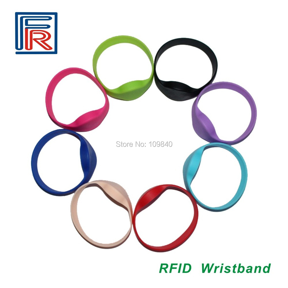 100pcs 13.56mhz waterproof Silicone RFID bracelet/wristband  for access control/spa/Fitness/swimming pool/water park rfid 125khz wristband with em chip waterproof abs bracelet for access control swimming pool fitness suana water park 100pcs lot