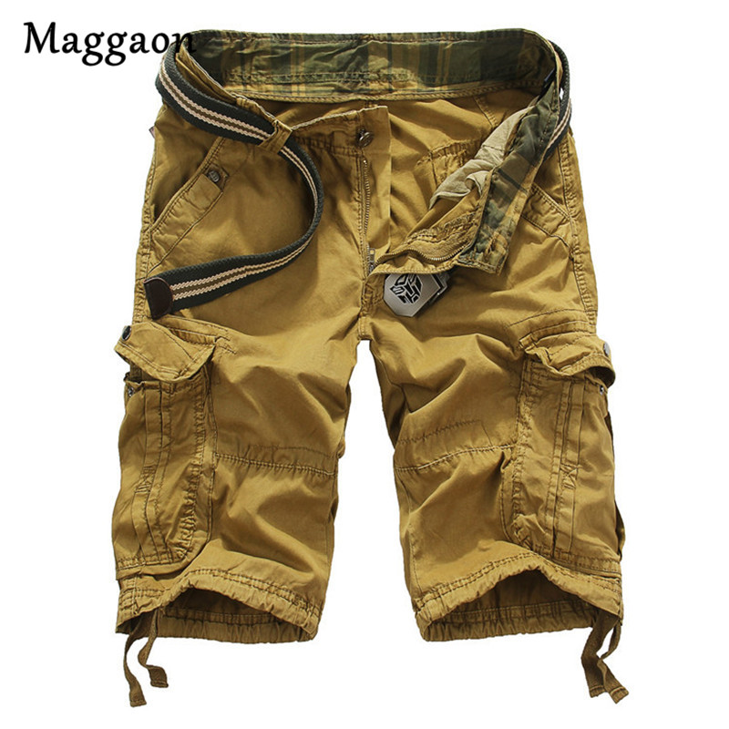 2018 New Style Summer Mens Casual Multi-pockets Shorts Male Loose Work Shorts Man Military Casual Loose Knee-length Short Pants