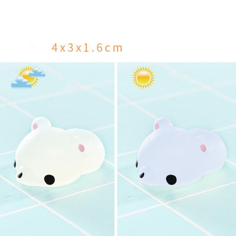 2pcs/set Mochi Cute Kawaii Squishy Bear Kids Healing Squeeze Funny Kid Toy Gift Stress Reliever Decor