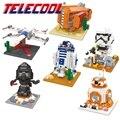 Star wars figuras bloques bb8 caza ala-x estrella r2-d2 rey de juguetes para niños compatibles con lego