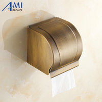 AB1 Series Antique Brass Paper Holder BOX Holders Wall Mounted Bathroom Accessories Sanitary wares 7009A