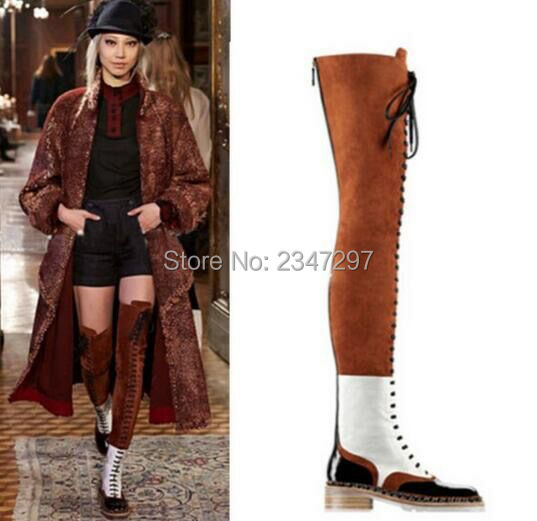 Popular Thigh High Boots Lace up Knee-Buy Cheap Thigh High Boots ...