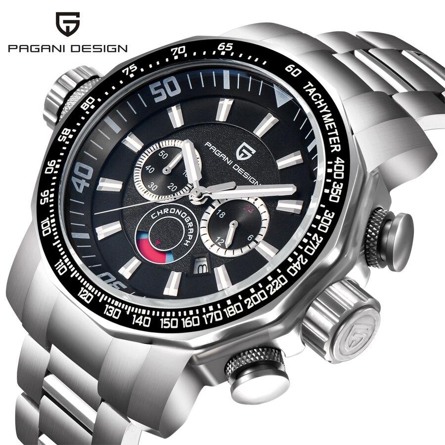 Montres hommes marque de luxe PAGANI DESIGN montre de Sport plongée montres militaires grand cadran multifonction montre-bracelet à Quartz Reloj Hombre