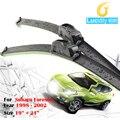 2 Шт. Автомобиль Мягкая Щетка Стеклоочистителя Для Subaru Forester 1998-2002 Bracketless Ветрового Стеклоочиститель