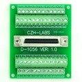 """50-pin Half-Pitch/0.05 """"D-SUB Female Breakout Board, DSUB, SCSI, Módulo Do Terminal"""