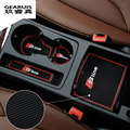 High Quality Gate Slot Pad Rubber Car-cup Mat Non-slip Mat Car Accessories For Audi A4 B8 New A4L 09-14 9pcs/set Car Styling