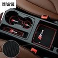 High Quality Gate Slot Pad Rubber Car-cup Mat Non-slip Mat Car Accessories For Audi A4 B8 New A4L 09-14 9pcs/set Car Styling