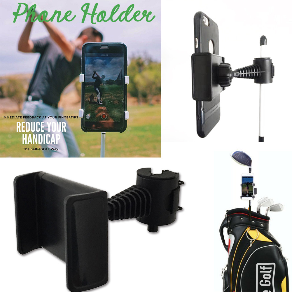 Golf Club Practice Records Accessories Phone Holder Golf Training Assistant Equipment Universal Selfie 5