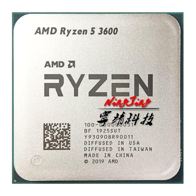 AMD Ryzen 5 3600 R5 3600 3.6 GHz Six Core Twelve Thread CPU Processor 7NM 65W L3=32M 100 000000031 Socket AM4
