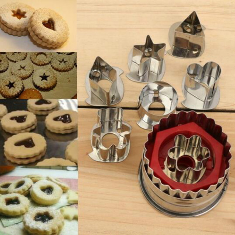 3D Scenario Stainless Steel Cookie Cutter Set Gingerbread Cake Biscuit Mould Fondant Cutter 2