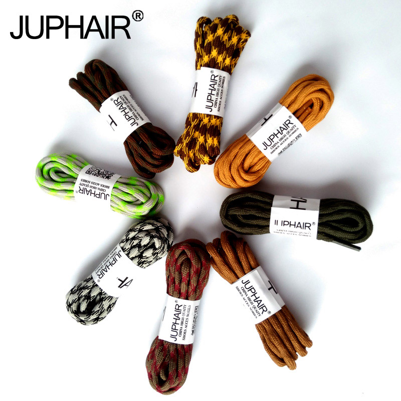 JUP 1-50 Pairs Gray Fluorescent Green Round Sport Shoe Laces Non-slip Outdoor Hiking Sneaker Shoelace Skate Bootlace String Rope