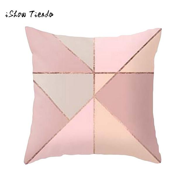 ISHOWTIENDA geometric cushion Marble Texture Throw Decorative ...