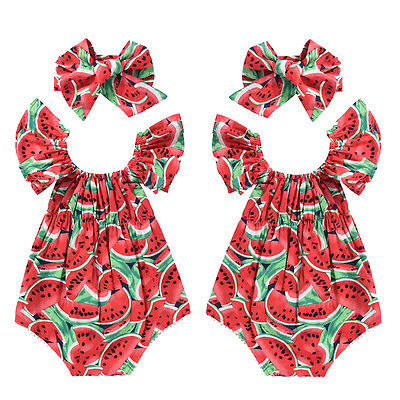 Hot Sale 2017 Summer Toddler Girls Watermelon Sleeveless Cotton