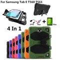 Para samsung galaxy tab e 9.6 t560 t561 capa tablet de impacto heavy duty robusto caso híbrido kickstand capa protetora + filme + caneta + otg
