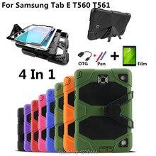 Чехол для Samsung Tab E 9,6, ударопрочный жесткий военный прочный силиконовый Прочный чехол для Samsung Galaxy Tab E 9,6 дюйма, чехол для Samsung Galaxy Tab E 9,6 дюйма, чехол для Samsung T561