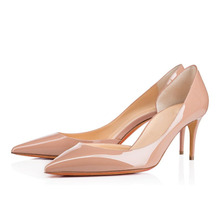 Amourplato Women's Middle Heel D'orsay Pumps Kitten Heel Two-Pieces Pointed Toe Party Office Dress Shoes