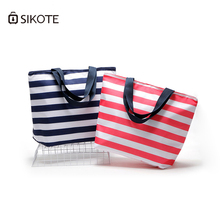 SIKOTE 11L Oxford Striped Lunch Bags Insulation for Women Kids Men Thermal Stripe Tote Picnic Food Box Bag