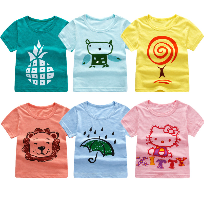 Childrens T-shirt Cotton New Short-sleeved Groot tshirt Suit Leisure Fortnite Cartoon Boys And Girls Summer Top Kids Clothing