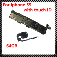 64GB Original Unlocked Motherboard For Iphone 5S Phone Circuits With Touch ID IOS System Logic Board