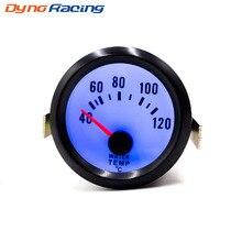 2 ''52 мм Автомобильный датчик температуры воды 40-120 C градусов датчик температуры воды синий светодиод с датчиком