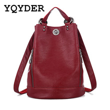 Fashion New Multifunction Women Backpack PU Leather Black Bagpack large capacity Travel Bag Female Rucksack Shoulder bag Mochila