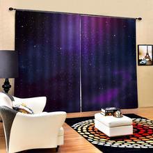 Звездные современные украшения для дома затемненные 3D занавески черный фиолетовый занавески s для спальни затемненные занавески
