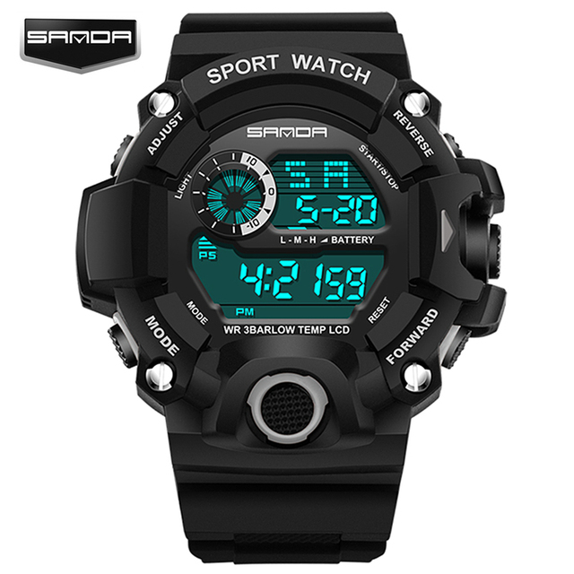 Men's Military Dive Sport LED Digital Wristwatches Waterproof